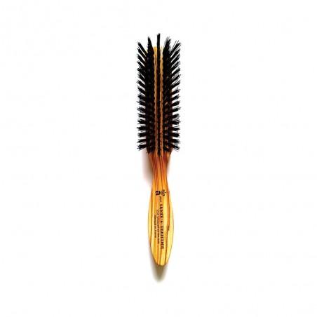 Brosse à barbe lissoir à manche en poil de sanglier - Lames & Tradition