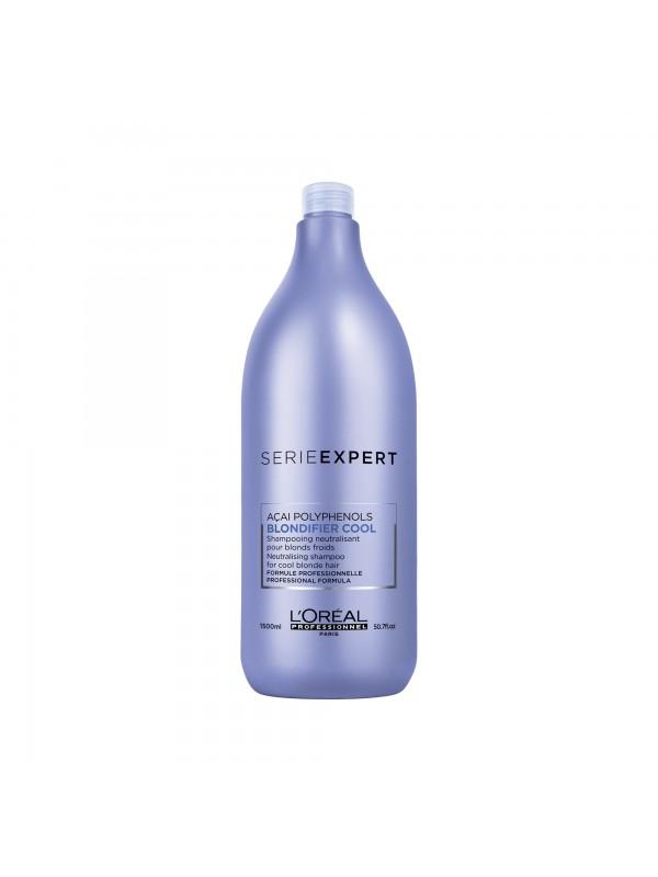 Blondifier Cool, Shampoing neutralisant pour blonds froids, Serie Expert, 1500 ml - L'Oréal Professionnel