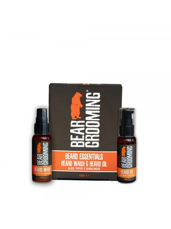Coffret essentiels barbe - Shampoing à barbe & Huile à barbe - Bear Grooming