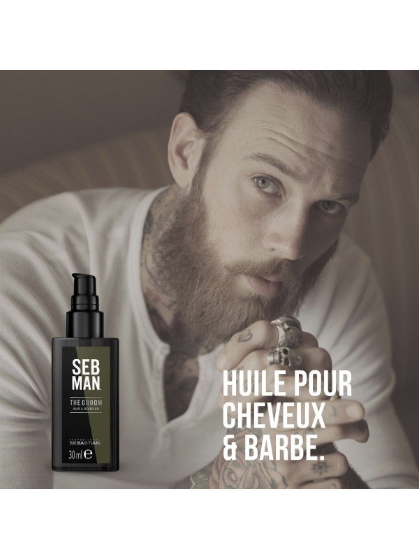 THE GROOM - Huile sublimatrice cheveux et barbe - SEB Man