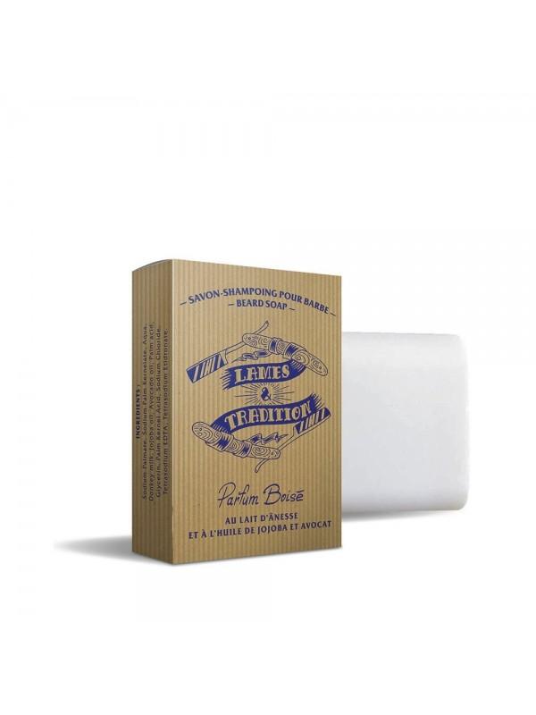Shampoing à barbe Boisé au lait d'ânesse - Lames & Tradition