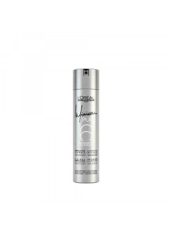 Infinium Pure, Laque extra-forte sans parfum et sans masqueur d'odeur - L'Oréal Professionnel