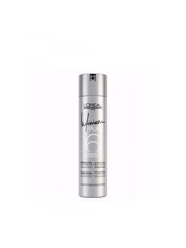 Infinium Pure, Laque forte sans parfum et sans masqueur d'odeur - L'Oréal Professionnel
