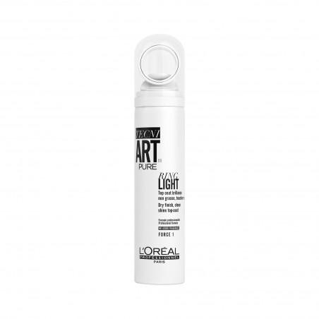 RING LIGHT PURE, Top coat brillance non grasse toucher léger, TECNI ART., 150 ml - L'Oréal Professionnel